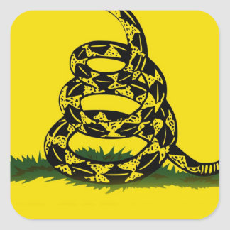 Don't Tread On Me flag Square Sticker