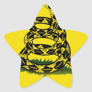 Don't Tread On Me flag Star Sticker