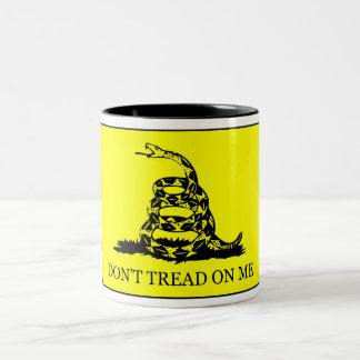 Don't Tread On Me Flag Two-Tone Coffee Mug