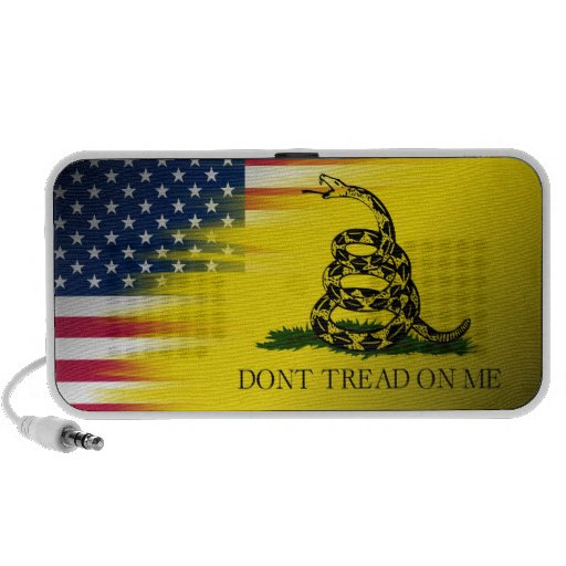 """Don't Tread on Me"" Flag/U.S.A. flag Travelling Speaker"