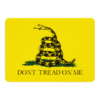 Don't Tread on Me Gadsden American Flag 5x7 Paper Invitation Card