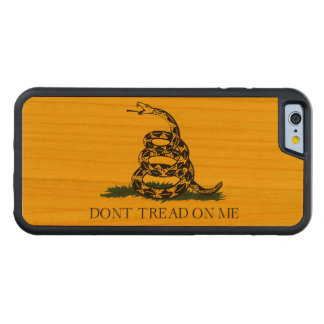 Don't Tread on Me Gadsden American Flag Carved Cherry iPhone 6 Bumper Case