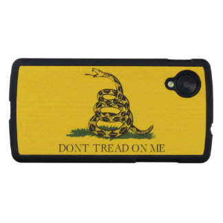 Don't Tread on Me Gadsden American Flag Carved® Maple Nexus 5 Slim Case