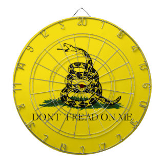Don't Tread on Me Gadsden American Flag Dartboard With Darts