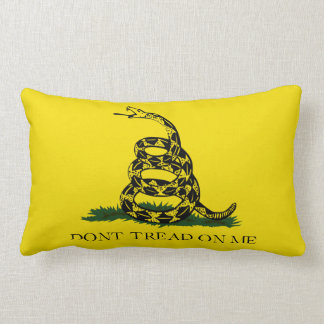Don't Tread on Me Gadsden American Flag Lumbar Pillow