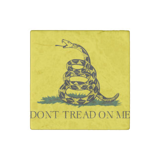 Don't Tread on Me Gadsden American Flag Stone Magnet