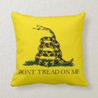 Don't Tread on Me Gadsden American Flag Throw Pillow