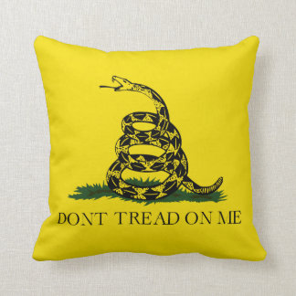 Don't Tread on Me Gadsden American Flag Throw Pillow