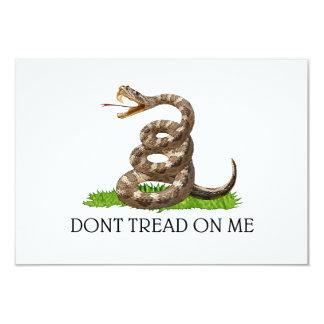 Dont Tread On Me Gadsden American Revolution Flag 3.5x5 Paper Invitation Card