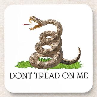 Dont Tread On Me Gadsden American Revolution Flag Drink Coaster