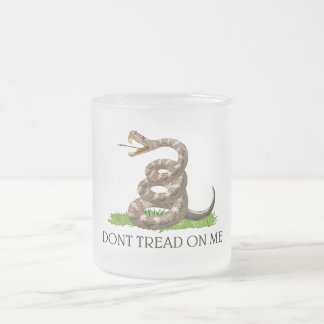 Dont Tread On Me Gadsden American Revolution Flag Frosted Glass Coffee Mug