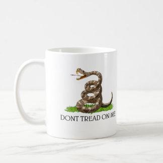 Dont Tread On Me Gadsden American Revolution Flag Classic White Coffee Mug