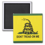 Dont Tread On Me Gadsden Flag 2 Inch Square Magnet