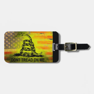 Don't Tread On Me Gadsden Flag American Flag Bag Tag