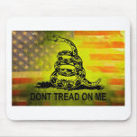Don't Tread On Me Gadsden Flag American Flag Mouse Pad