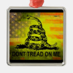 Don't Tread On Me Gadsden Flag American Flag Christmas Tree Ornament