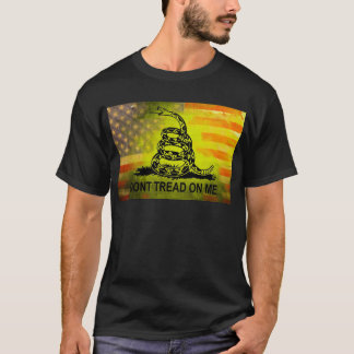 Don't Tread On Me Gadsden Flag American Flag T-Shirt