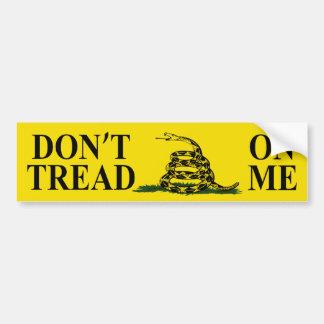 DON'T TREAD ON ME GADSDEN FLAG Bumper Sticker