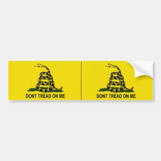 Dont Tread on Me - Gadsden Flag Car Bumper Sticker