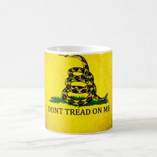 Dont Tread On Me Gadsden Flag - Distressed Classic White Coffee Mug