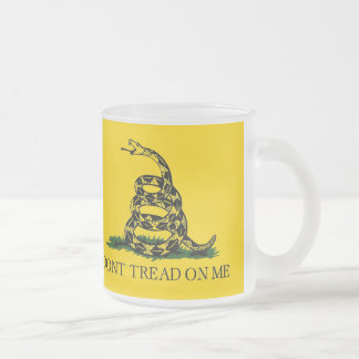 Don't Tread On Me - Gadsden Flag Frosted Glass Coffee Mug
