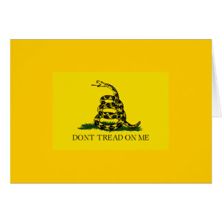 Don't Tread On Me - Gadsden Flag Greeting Cards