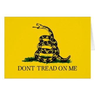 Don't Tread On Me- Gadsden Flag- Navy Jack On Back Card