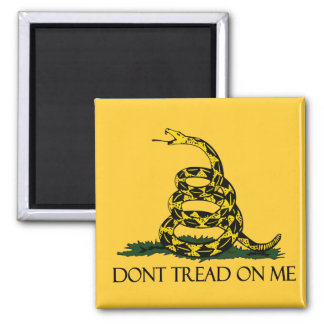Don't Tread on Me, Gadsden Flag Patriotic History 2 Inch Square Magnet
