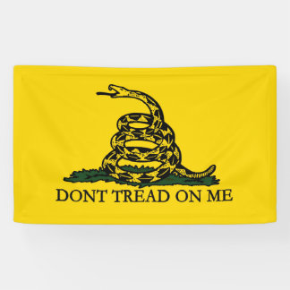 Don't Tread on Me, Gadsden Flag Patriotic History Banner