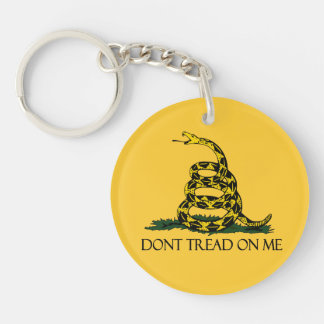 Don't Tread on Me, Gadsden Flag Patriotic History Double-Sided Round Acrylic Keychain