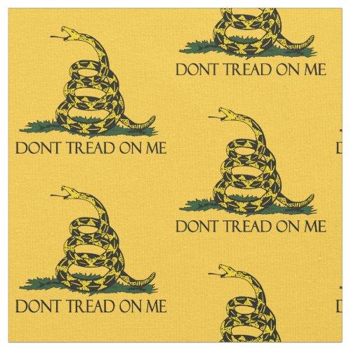 Dont Tread on Me Gadsden Flag Patriotic History Fabric