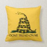 Don't Tread on Me, Gadsden Flag Patriotic History Pillows