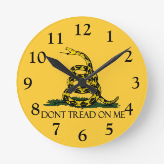 Don't Tread on Me, Gadsden Flag Patriotic History Round Clock