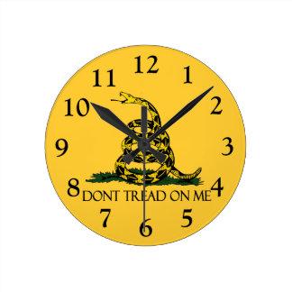Don't Tread on Me, Gadsden Flag Patriotic History Round Clock