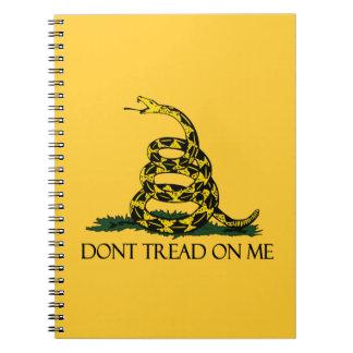 Don't Tread on Me, Gadsden Flag Patriotic History Spiral Notebook