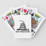 DON'T TREAD ON ME Gadsden Flag PLAYING CARDS