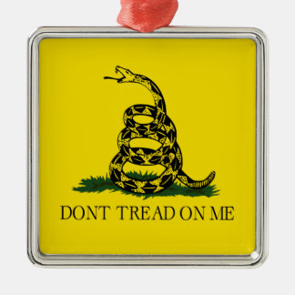 Dont Tread On Me Gadsden Flag Political Metal Ornament