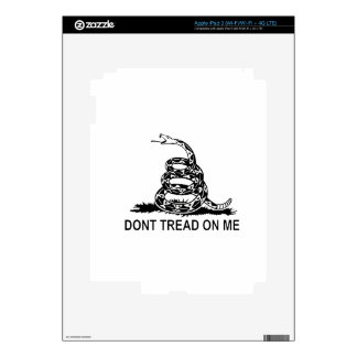Dont Tread On Me Gadsden Flag Series Decals For iPad 3