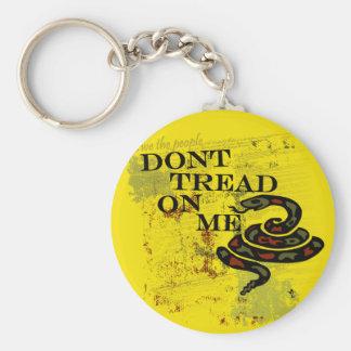 Dont Tread on Me Gadsden Flag/Symbol Basic Round Button Keychain