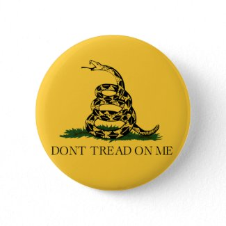 Don't Tread on Me, Gadsden flag tea party button