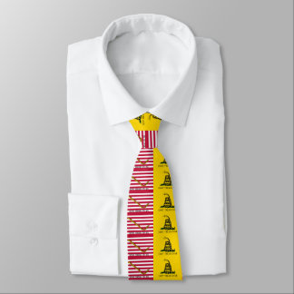 Dont Tread On Me - Gadsden & Navy Jack Flags Tie