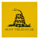Don't Tread on Me Gadsden Poster
