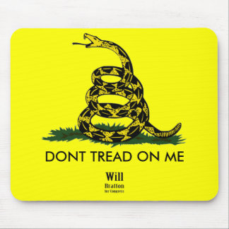 DONT TREAD ON ME, Gadsden Rattler, Will Bratton Mouse Pad