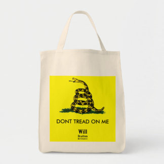 DONT TREAD ON ME, Gadsden Rattler, Will Bratton Tote Bag