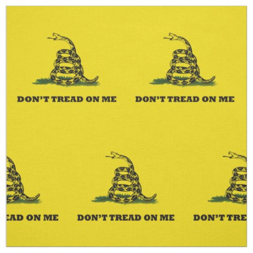Dont Tread On Me Gadsden Yellow Flag Fabric