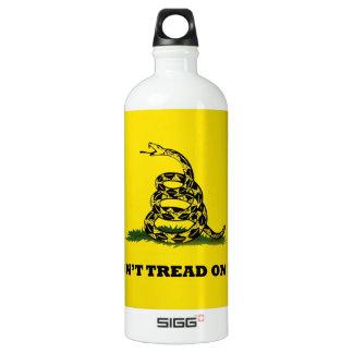 Don't Tread On Me gadston flag Aluminum Water Bottle