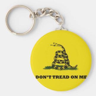 Don't Tread On Me gadston flag Basic Round Button Keychain