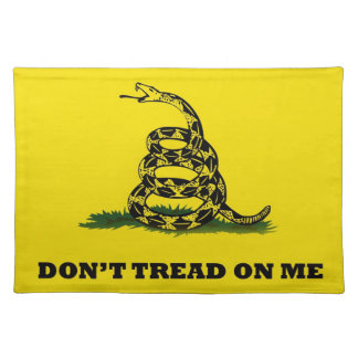 Don't Tread On Me gadston flag Cloth Placemat