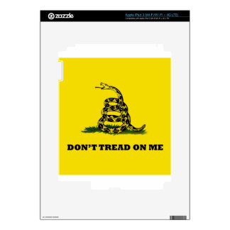 Don't Tread On Me gadston flag Decals For iPad 3