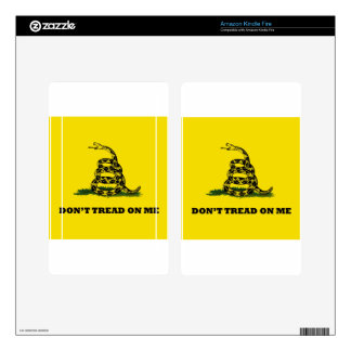 Don't Tread On Me gadston flag Kindle Fire Skin